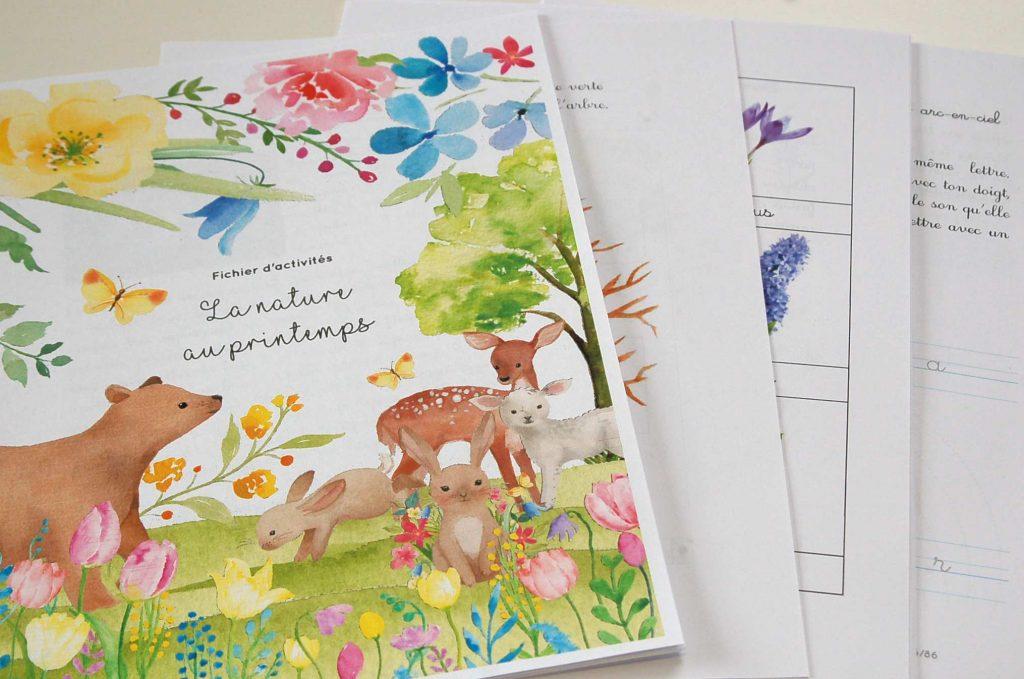 La nature au printemps, fichier 4/6 ans copyright crapaud-chameau.com