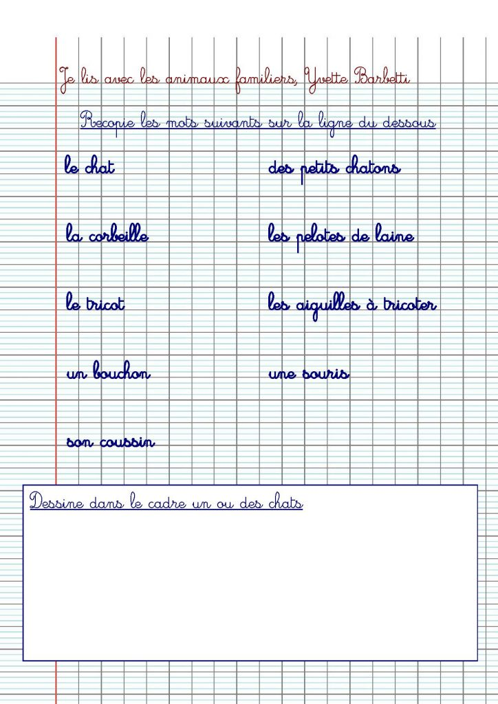Exercice CP-CE1 : nos fiches d'écriture à télécharger - Crapaud Chameau