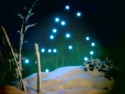 Scène hiver fausse neige