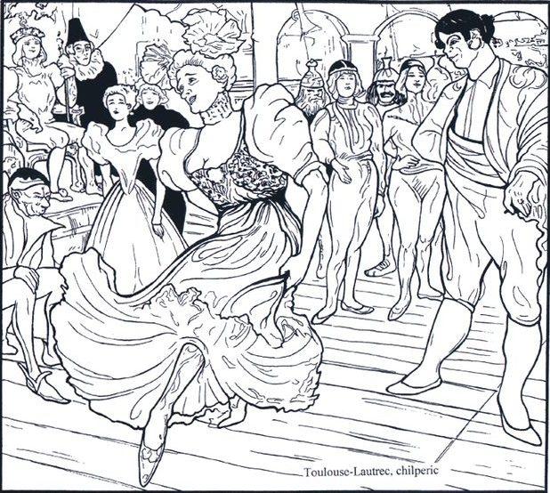 Toulouse-Lautrec, coloriage