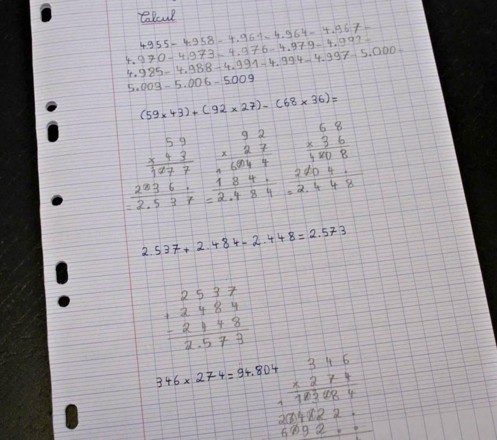 Crapaud-Chameau, Maths CE2