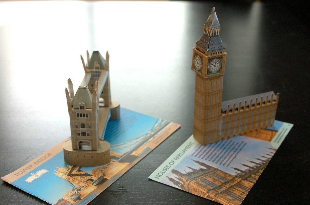 Londres : maquettes papier cartonné