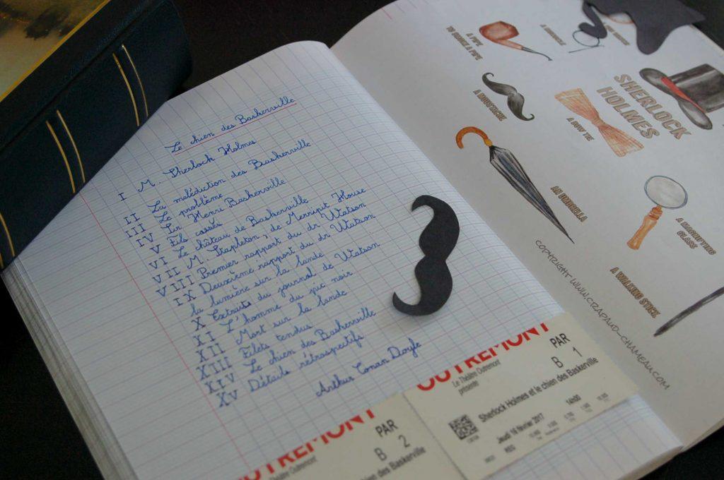 Sherlock Holmes Cahier des histoires à raconter