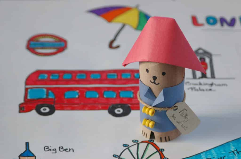 Ours Paddington - carte à colorier sur Londres et bricolage