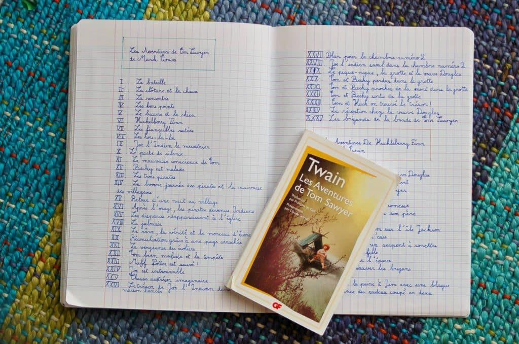 Tom Sawyer Huckleberry Finn Narration Cahier des histoires a raconter