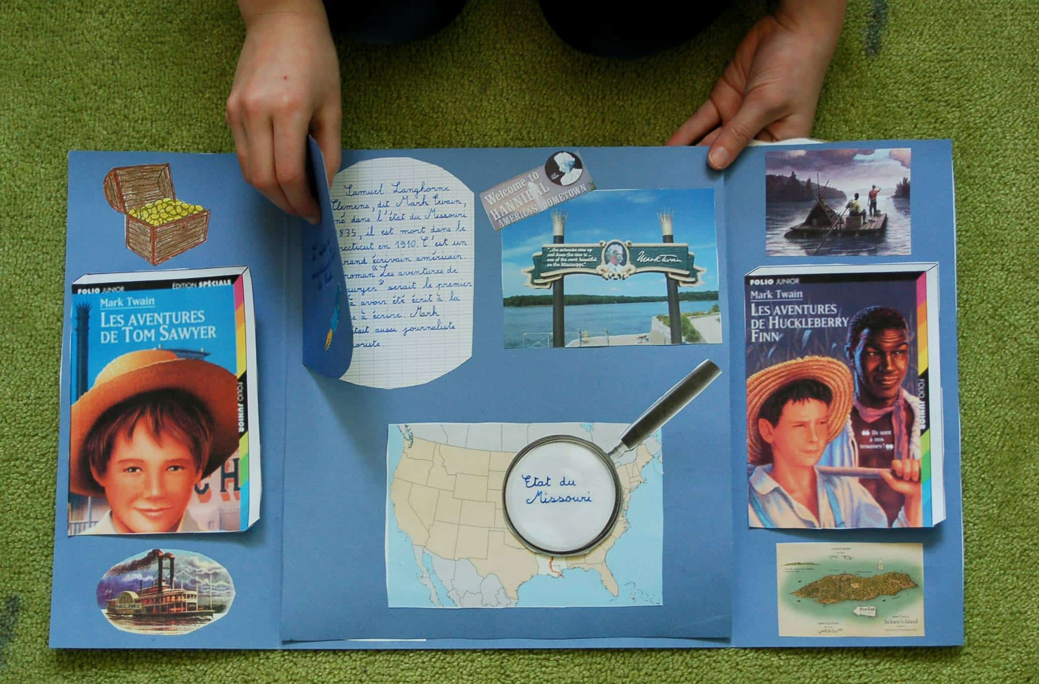 Lapbook Tom Sawyer Huckleberry Finn