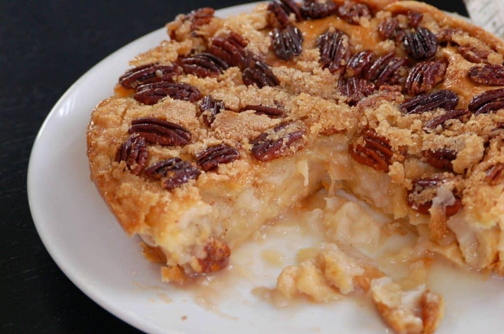 Midwest Upside Down Apple Pear Pie