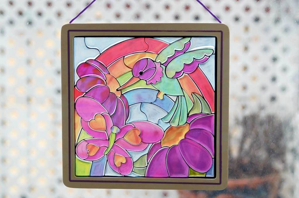 Poucette maternelle Printemps vitrail