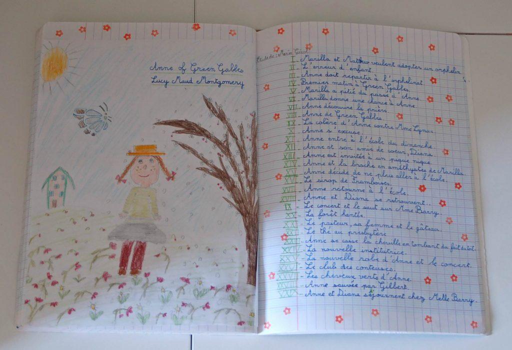 Anne la maison aux pignons verts cahier des histoires à raconter