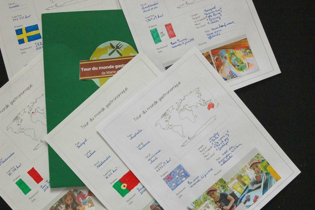 Tour du monde gastronomique étudier la géo autrement