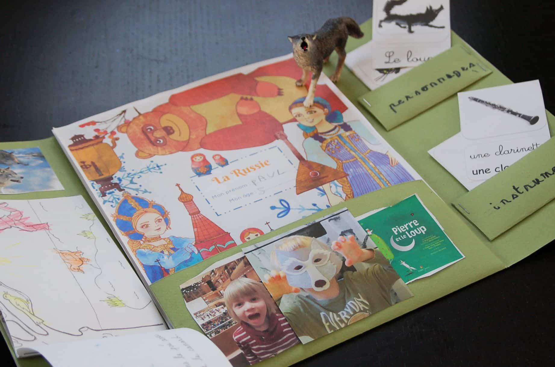 Lapbook Russie Pierre et le loup copyright crapaud-chameau.com