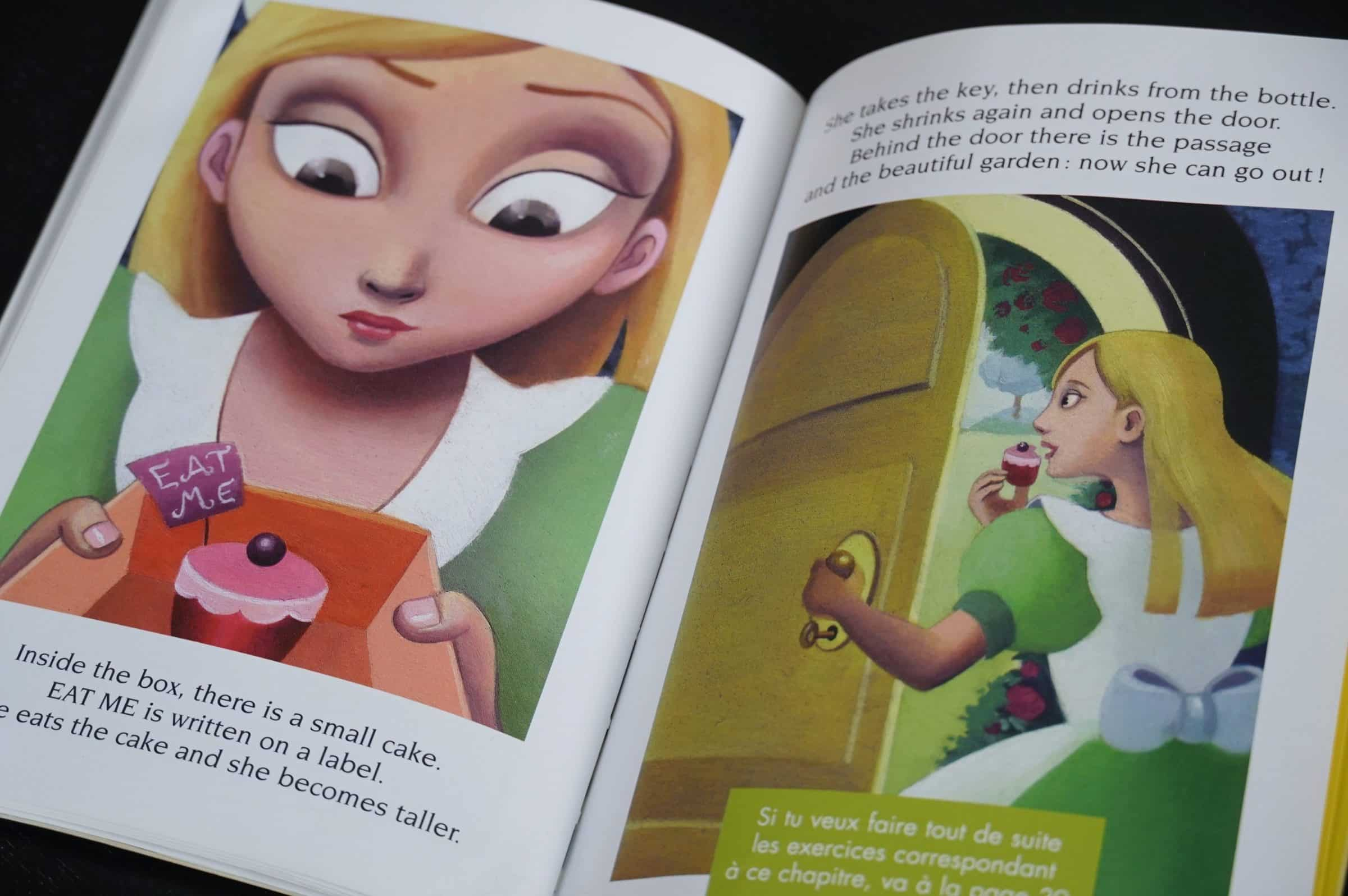 Alice in Wonderland English learning crapaud-chameau