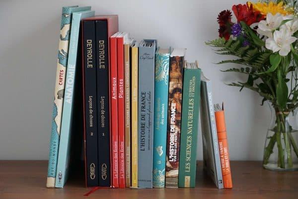 Beaux livres école à la maison