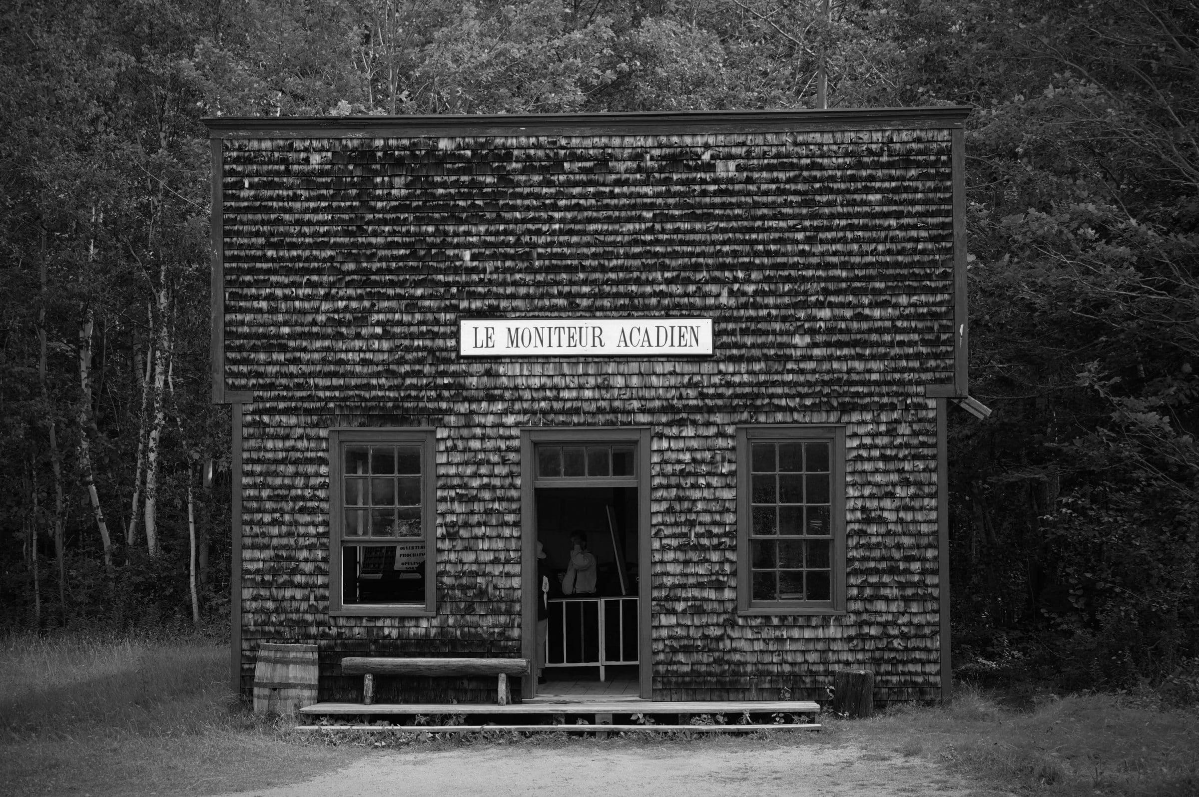 Acadie - Village historique acadien Le moniteur acadien copyright crapaud-chameau.com