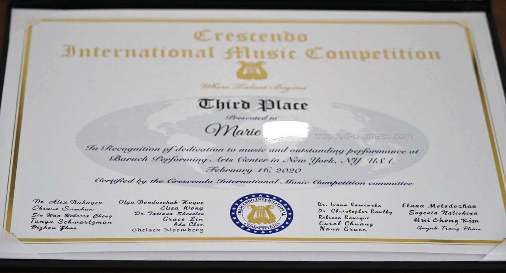 Musical diploma copyright crapaud-chameau.com