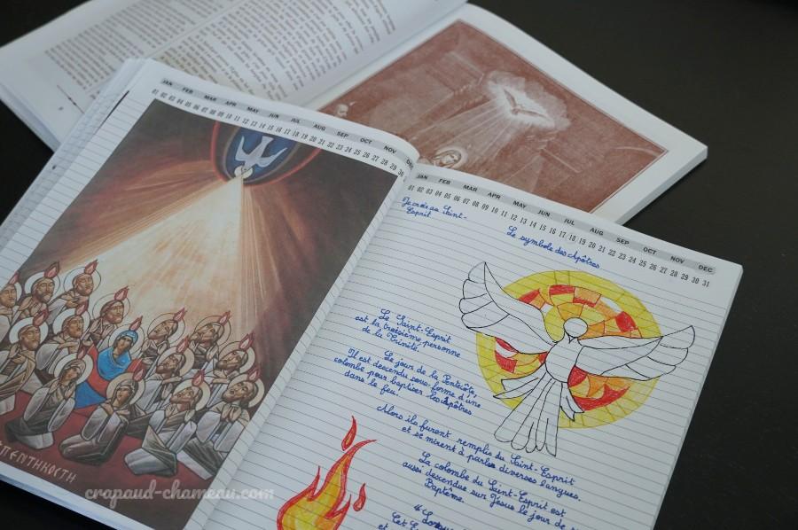 mi-année 2020-2021 6ème catéchisme notebooking copyright crapaud-chameau.com