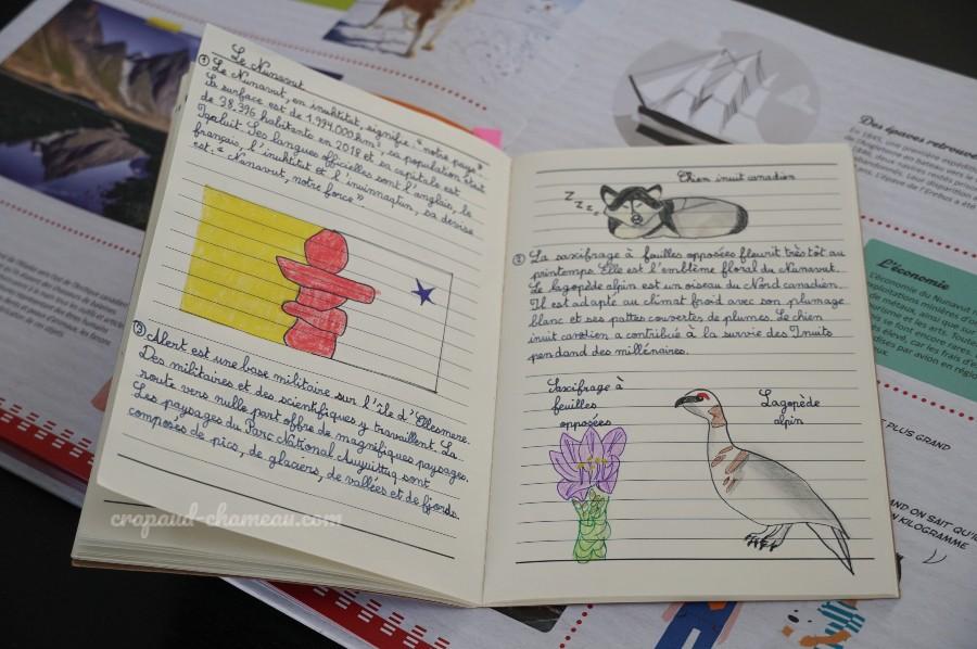 mi-année 2020-2021 6ème géographie du canada notebooking copyright crapaud-chameau.com