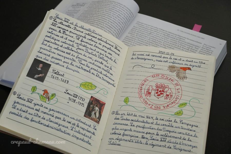 mi-année 2020-2021 6ème histoire du québec notebooking copyright crapaud-chameau.com