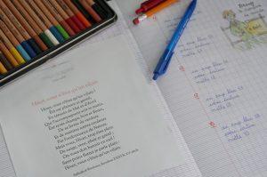 Les poésies en école à la maison copyright crapaud-chameau.com
